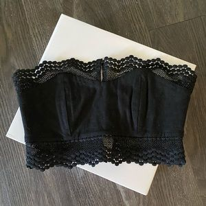 Stone Cold Fox Black Lace Crop Top, Size 1
